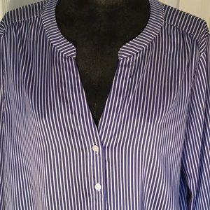 Ann Taylor button down blouse Sz L